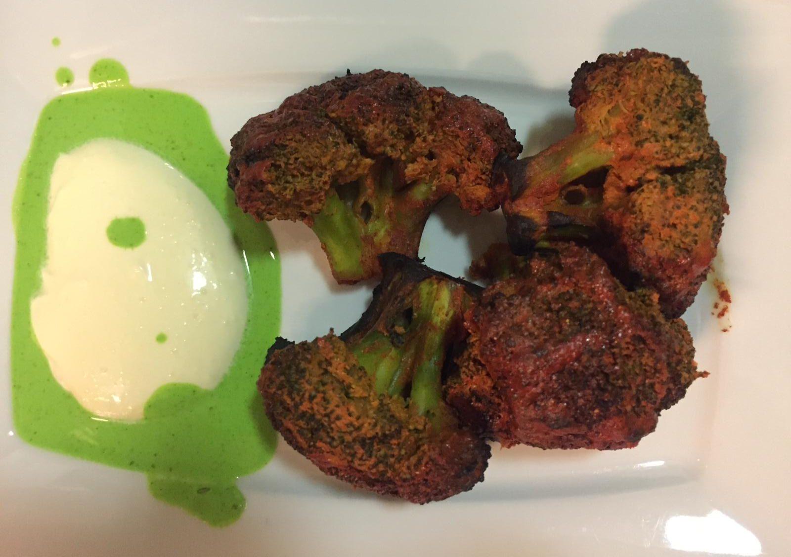 my kitchen / fried broccoli