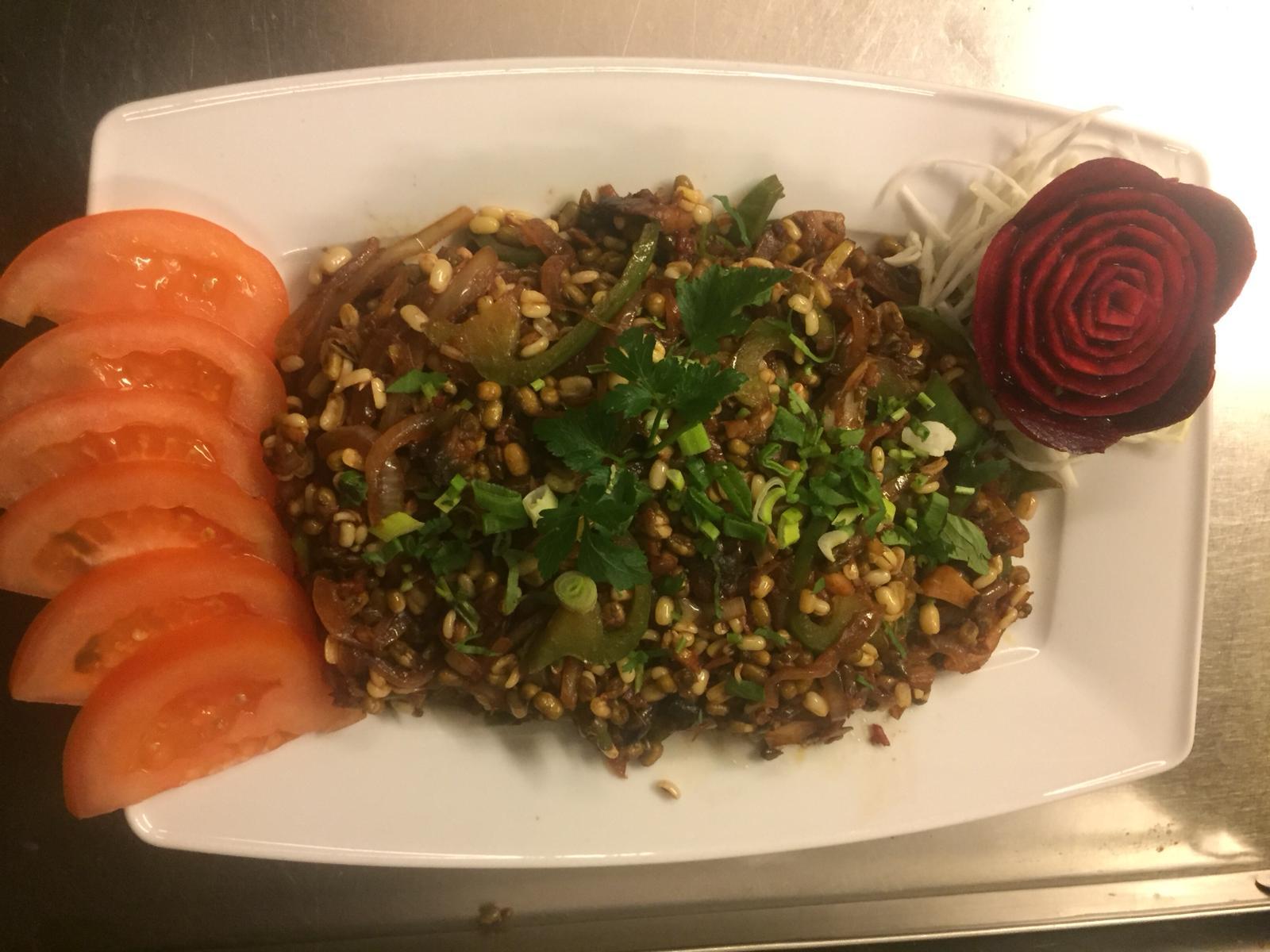 my kitchen /sprouds salad