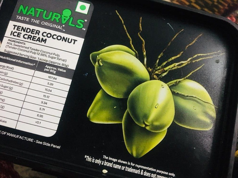 naturals coconut ice cream / public spoon